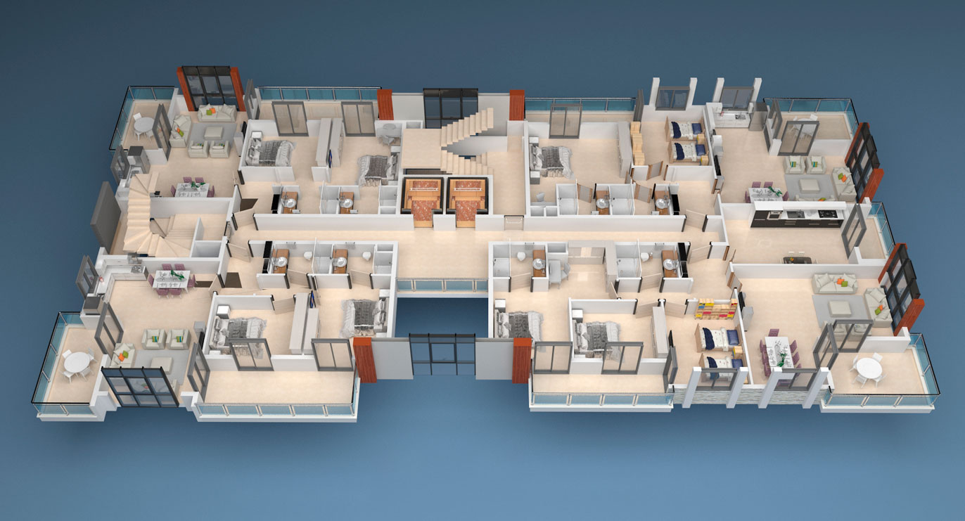 Floor plans of apartments 1 floor «C» Yekta Alara Park Residence