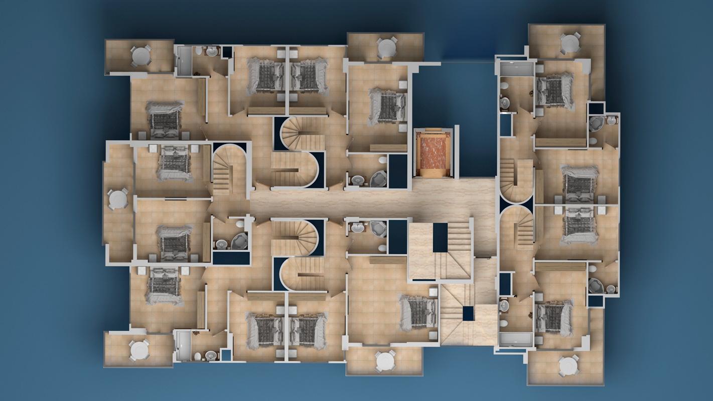 Floor plans of apartments 9 floor Investment Plus