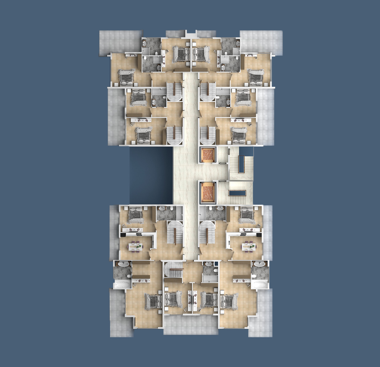 Floor plans of apartments 7 floor «A» Yekta Kingdom Trade Center