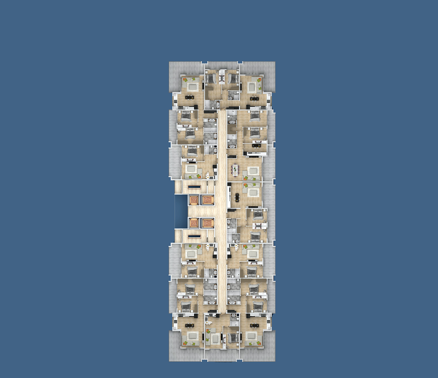 Floor plans of apartments 11 floor «B» Yekta Kingdom Premium