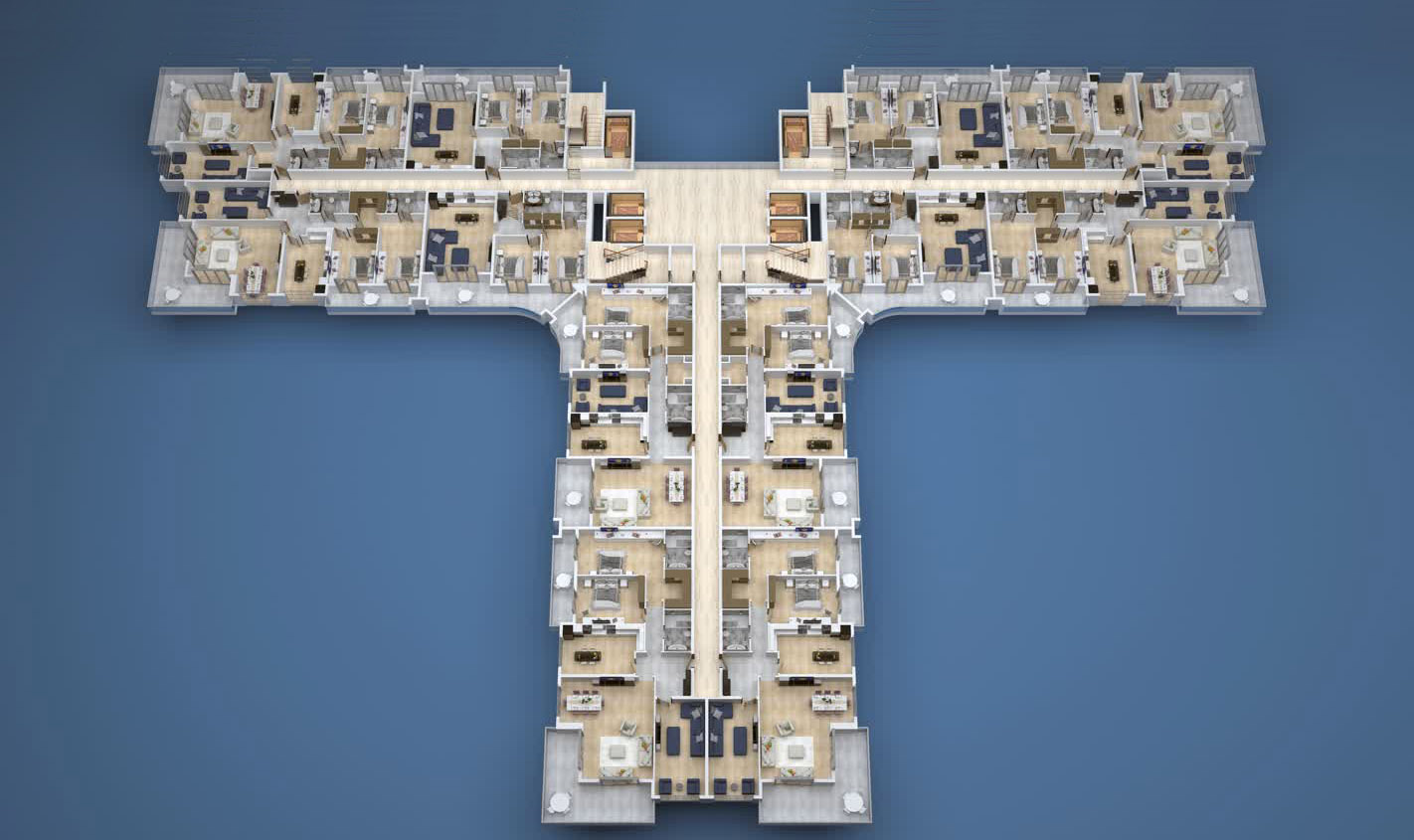 Floor plans of apartments 4 floor «A» Yekta Kingdom Premium